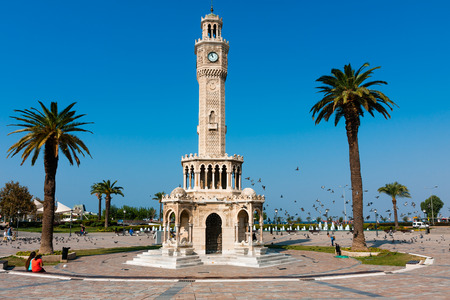 IZMIR, TURKEY, Clock Tower at the Konak Square Editorial