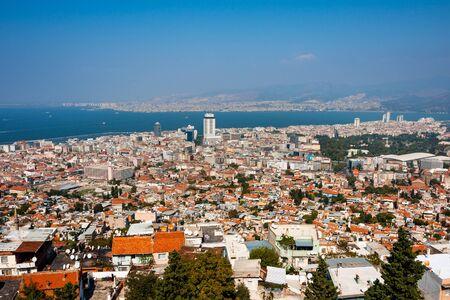 Izmir birds eye panorama of high density housing