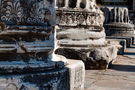 apollo: Temple of Apollo in Didim, Decorative friezes and columns
