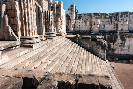 Ancient columns and stairs, Temple of Apollo in Didyma, Turkey
