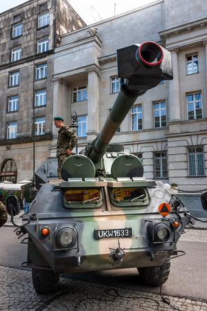 propelled: Gun howitzer Dana 152 self propelled artillery Editorial