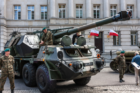 cross armed: Gun howitzer Dana 152 artillery system