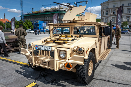 armored: HMMWV Humvee armored military vehicle