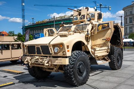 ambush: Mine resistant ambush protected Oshkosh MATV vehicle Editorial