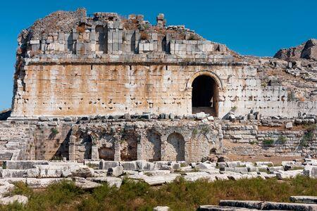 anatolia: Milet the theater of Miletus ancient Greek city of Anatolia