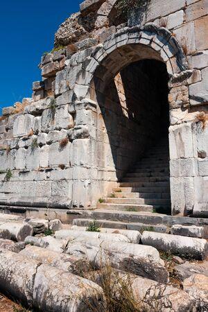 Miletus theater entrance. Ancient Greek city. Now Turkey