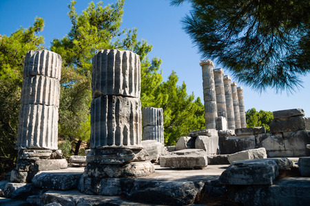 Ancient ruins Temple of Athena