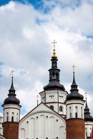 steeples: Steeples of Orthodox Church in Suprasl Poland