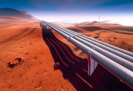 Mars, water supply pipeline