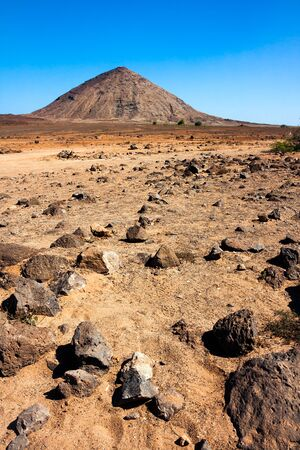 Volcanic crater on Sal Island, Cape Verde