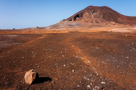 Calhau volcano crater on Cabo Verde