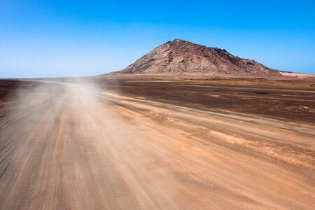 Cabo Verde route to Volcano and Buracona Stock Photo