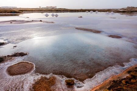 crystallization: Salt crystallization, Cape Verde, Africa Stock Photo