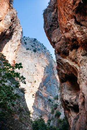 chasm: Chasm in Saklikent Canyon in Turkey