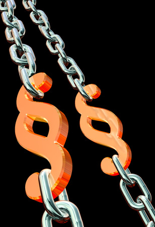 Paragraph chains black background