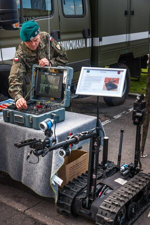 talon: Sapper operating control board of Robot TALON, Warsaw