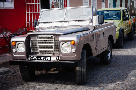 rover: Old Land Rover Series 3. Vintage four wheel drive Editorial