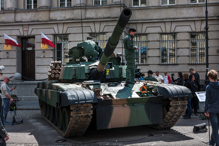 PT 91 Polish tank, Warsaw City, 70th anniversary of End of WW II