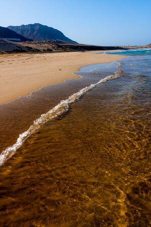 Long beach Praia Grande on Sao Vicente Stock Photo