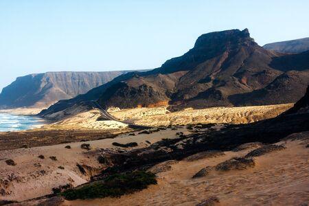 grande: Mountains of Cape Verde at Praia Grande beach