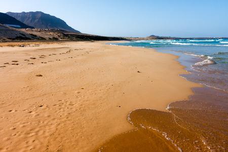 Cape Verde Praia Grande beach on Sao Vicente