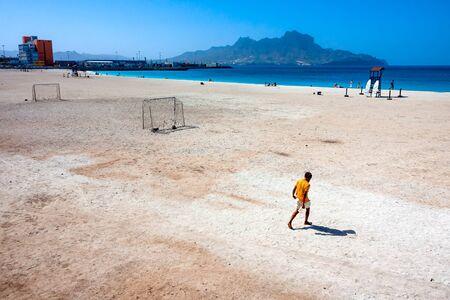 Beautiful beach of Praia da Laginha, Mindelo