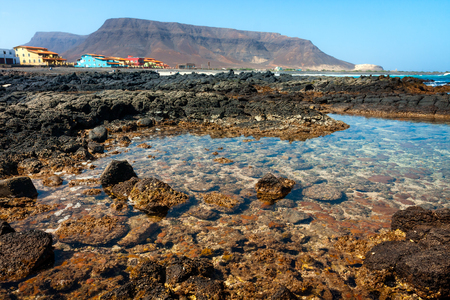 Cape Verde. Landscape of Sao Vicente island Stock Photo