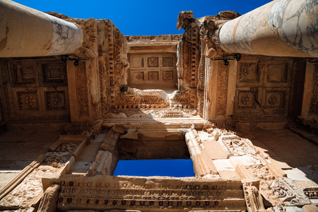 Ornaments in Ephesus. Turkey Stock Photo - 64509798