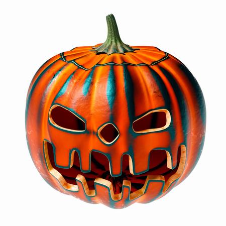 Carved halloween pumpkin zebra