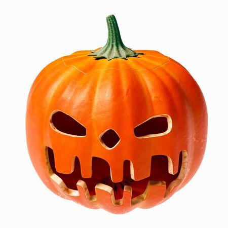 humor: Halloween pumpkin face