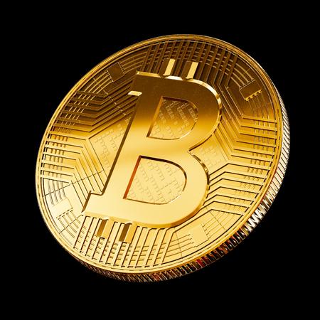 Bitcoin virtual currency coin symbol concept Stock Photo