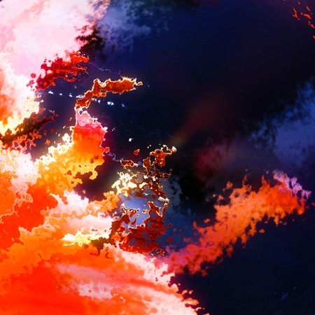 Red flames fire explosion abstract background Stock Photo