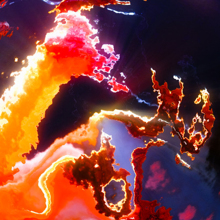 Burning fire hot red clouds abstract background