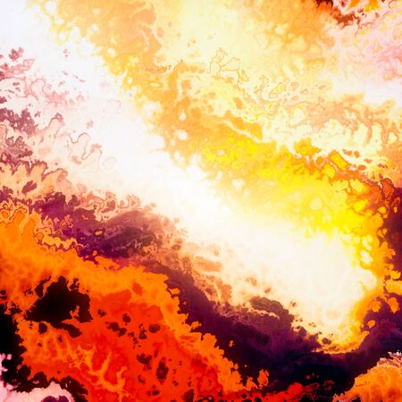 Burning fire cloud red flames abstract illustration Stock Illustration - 91595372