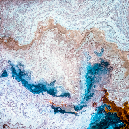 Mineral layers blue coffe and milk like mixed abstract background Reklamní fotografie