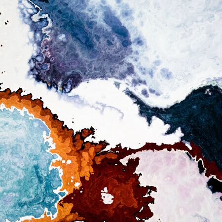 Fantasy terrain top viev snow like or mineral structure abstract background Stock Photo