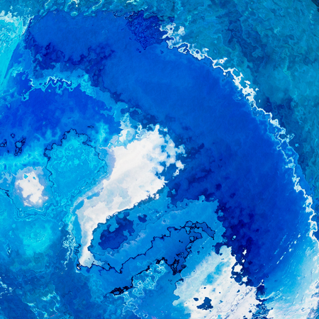 Blue deep wave splash abstract background