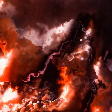 Dark red storm clouds or burning flames smoke