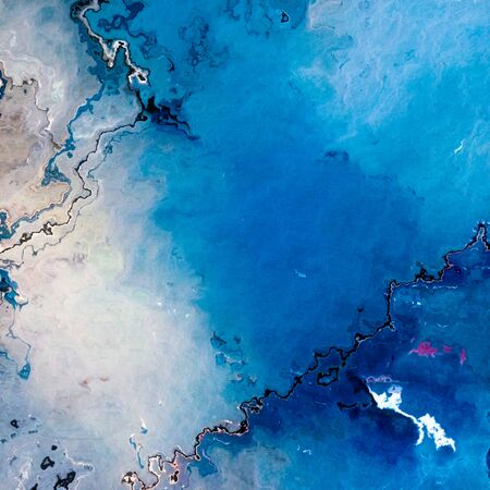 Blue cracked empty surface abstract background Stock Photo