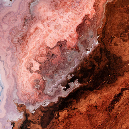Rusty rose mineral marble, metal or wooden layers surface background illustration