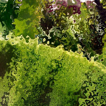 Green layers floral crumb motif