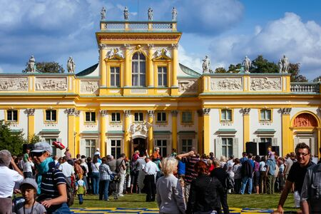 Tourist crowds at the Wilanow Royal Palace in Warsaw