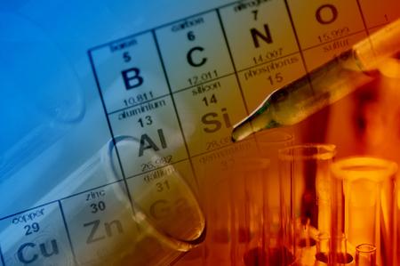 Laboratoire scientifique avec le thème chimique Banque d'images - 46526229