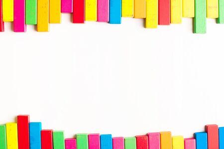 wood block: wood block clour border