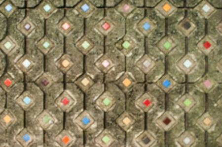 octagonal: Floor brick octagonal pattern Rows of a circle radius