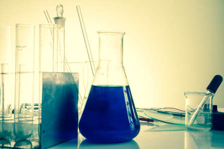 flasks: Chemical laboratory equipment. Flasks and test tubes