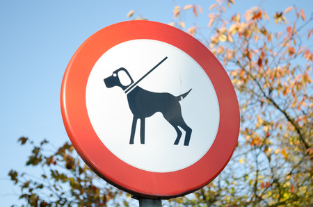 zoned: No dogs allowed sign Stock Photo