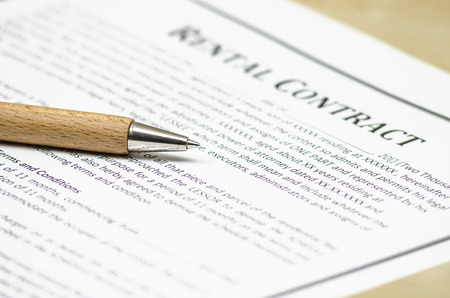 Rental contract Stock Photo