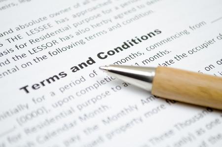 fond de texte: Termes et conditions