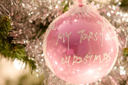 Christmas tree ball -My first Christmas (girl)